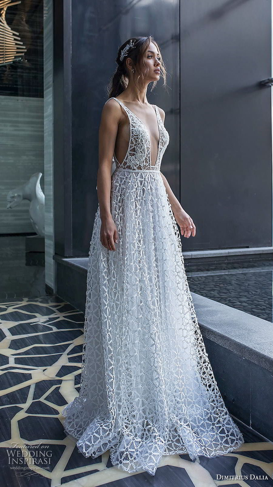 dimitrius dalia 2018 royal sleeveless with strap deep v neck full embellishment sexy romantic a line wedding dress v ribbon back sweep train (4) mv