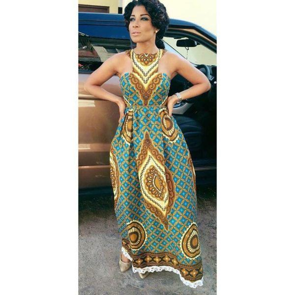 kitenge25-600x600 20 Best Kitenge Designs for Long Dresses 2018