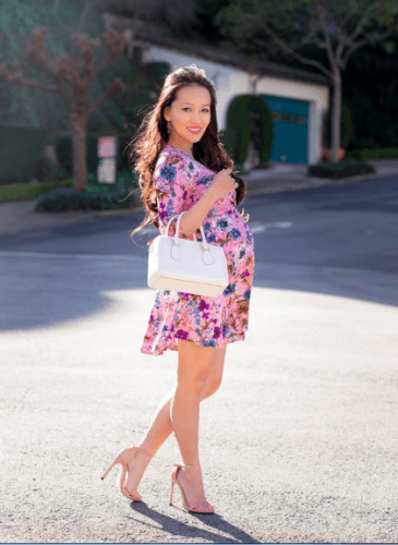 Skater-Dress-365x500 18 Comfortable Summer Baby Shower Outfit Combinations