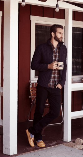 Quilted-Jacket-with-Jeans-267x500 What to Wear for Bonfire Party? 18 Cute Bonfire Night Outfits for Men