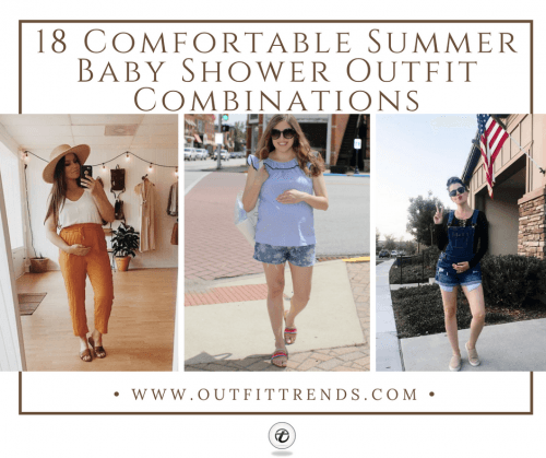 Summer-Baby-Shower-Outfits-500x419 18 Comfortable Summer Baby Shower Outfit Combinations