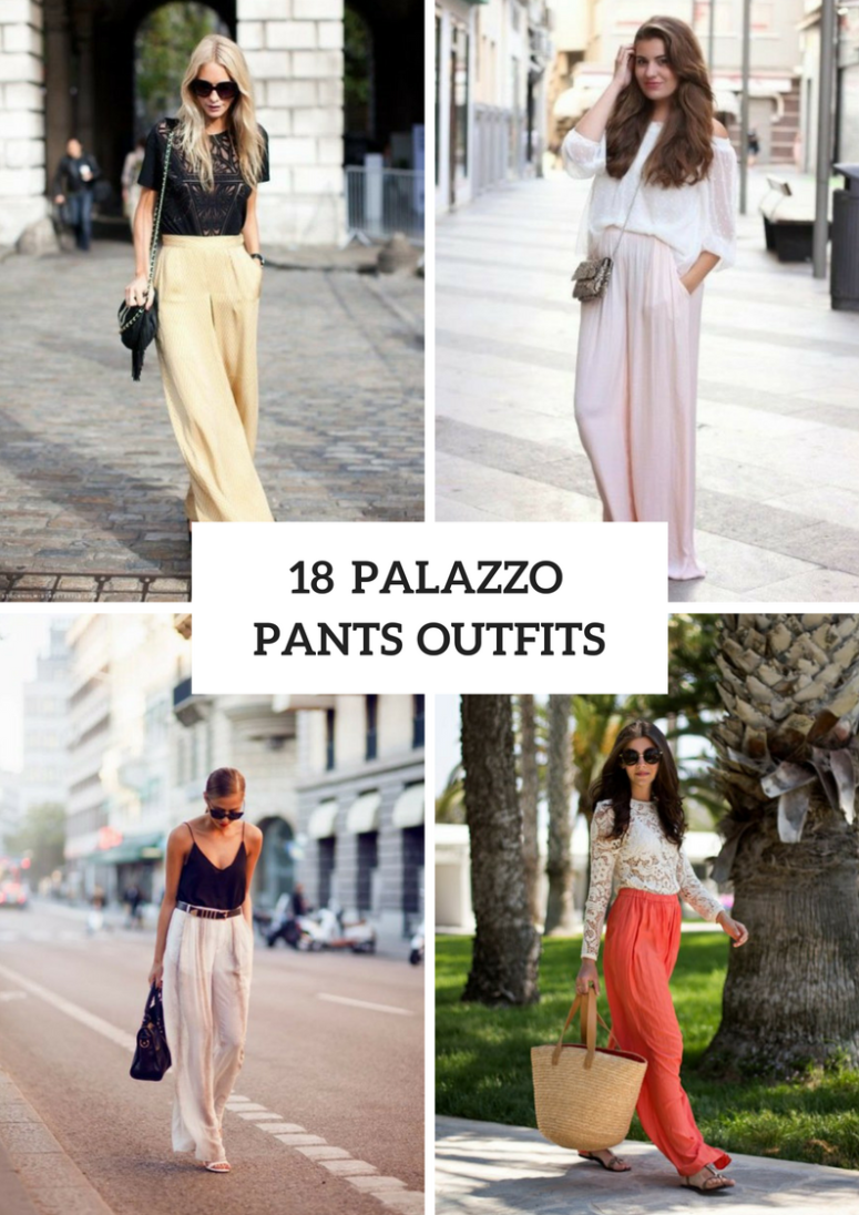 Wonderful Outfits With Palazzo Pants