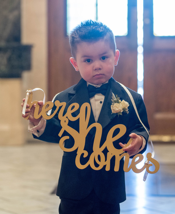Ring Bearer Sign - Clane Gessel Photography