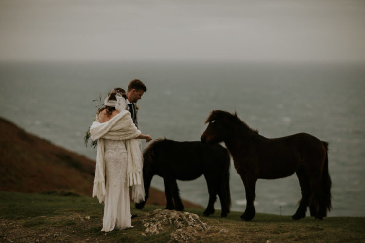 This wedding on the Cornish coast was done with impeccable taste and attention to detail
