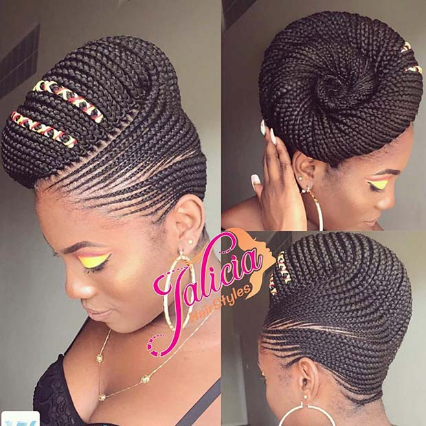 Braided Updo Idea for African American Women