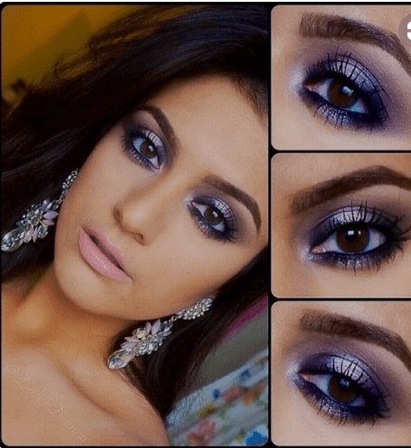 Voilet-eye-makeover Eid Makeup Tutorial-15 Perfect Makeup Ideas for Eid 2018