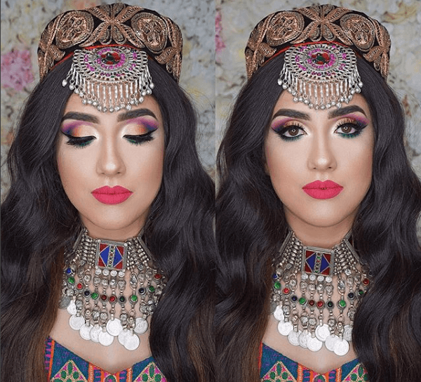 Culture-Inspired-look-600x544 Eid Makeup Tutorial-15 Perfect Makeup Ideas for Eid 2018