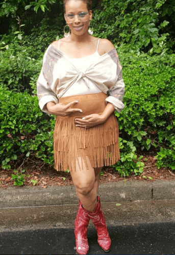 Fringe-Skirt-343x500 18 Comfortable Summer Baby Shower Outfit Combinations