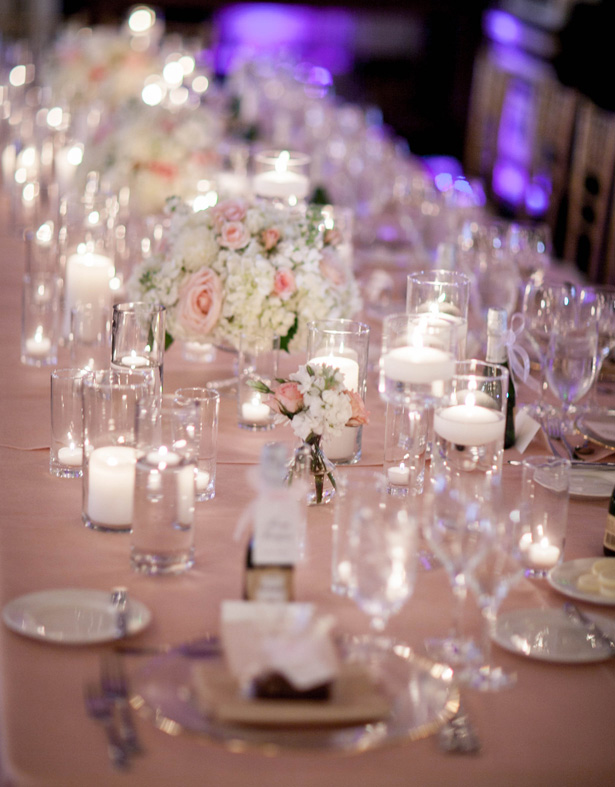 Blush Wedding Table Decor - Clane Gessel Photography