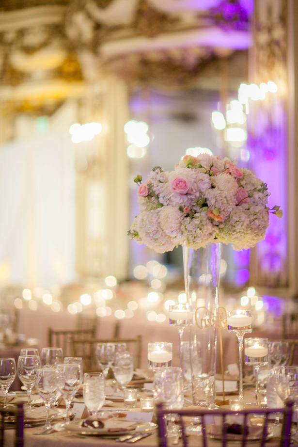 Tall wedding center piece - Clane Gessel Photography
