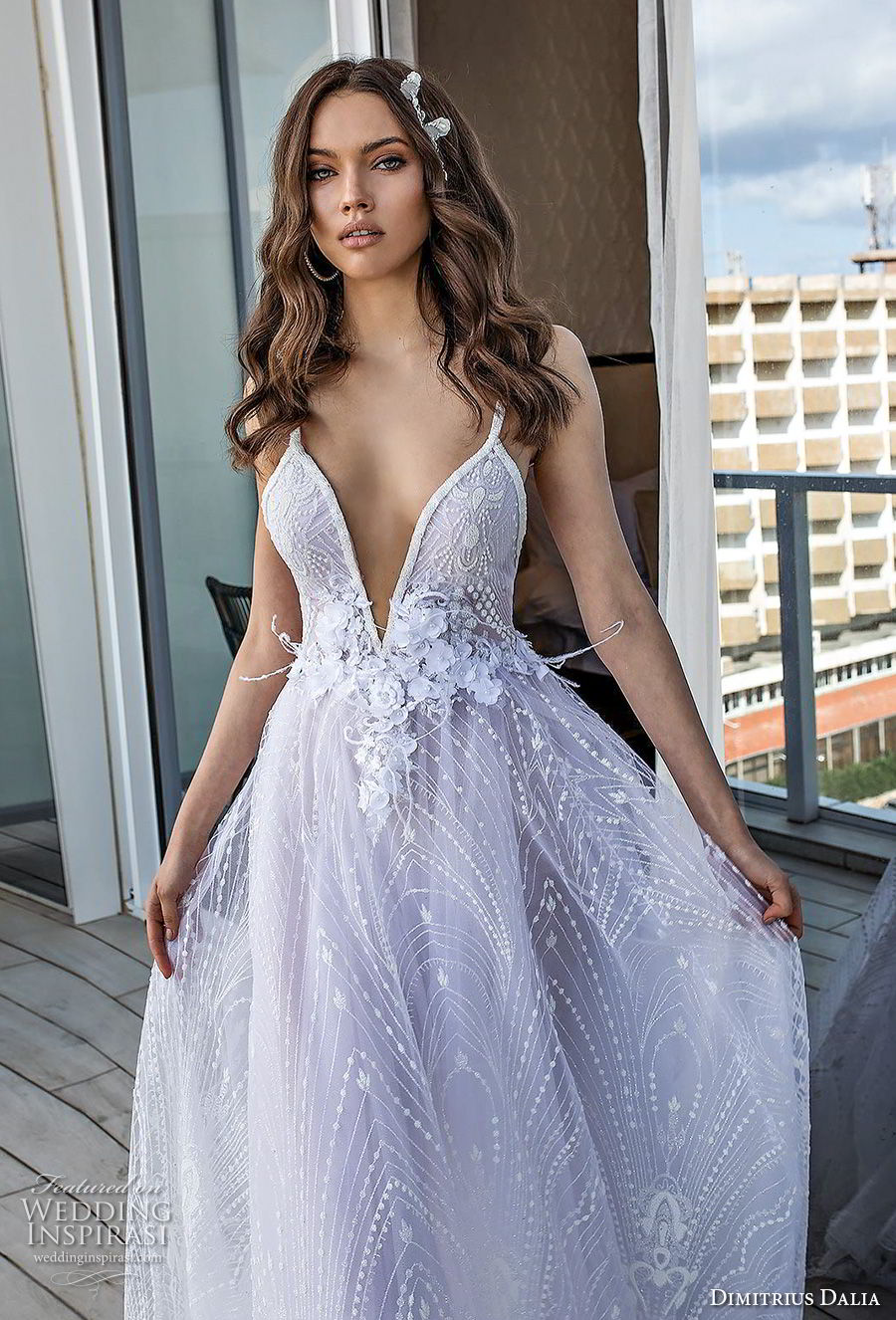 dimitrius dalia 2018 royal sleeveless thn strap deep sweetheart neckline full embellishment romantic sexy soft a line wedding dress open back sweep train (9) zv