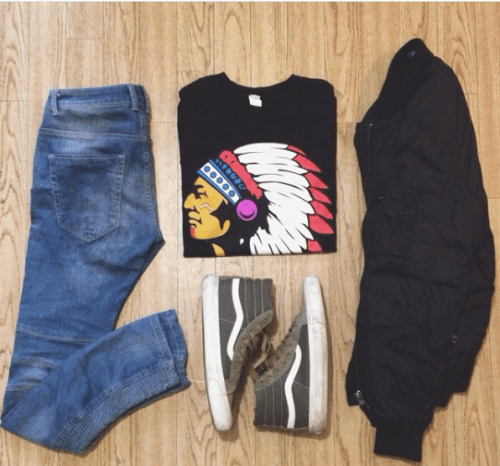 Tribal-Print-Outfit-500x466 What to Wear for Bonfire Party? 18 Cute Bonfire Night Outfits for Men