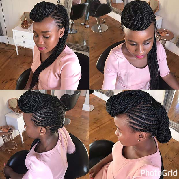 Creative Feed In Braids Hairstyle