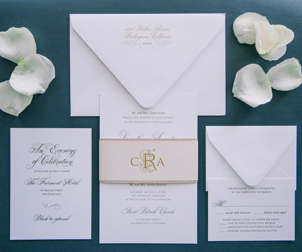 Classic Wedding Invitation - Clane Gessel Photography