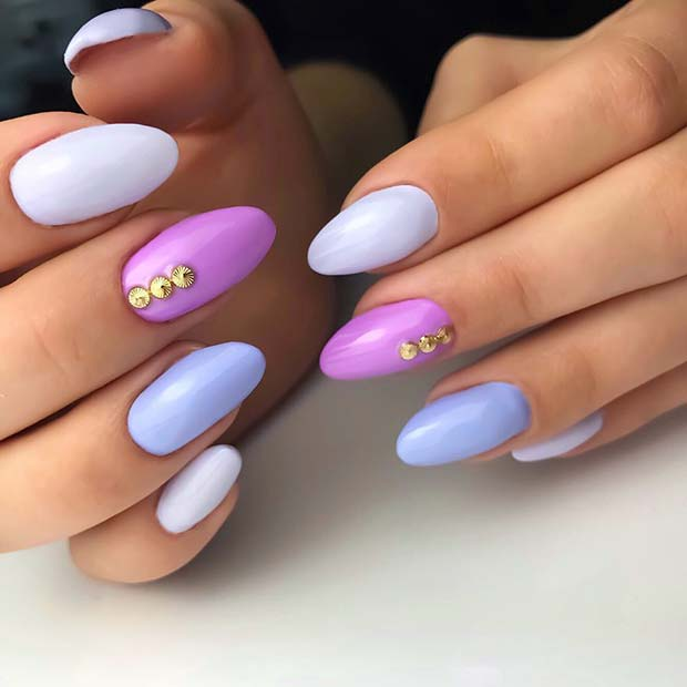Cute Multi Color Summer Nails