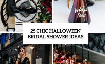 Chic Halloween Bridal Shower Ideas
