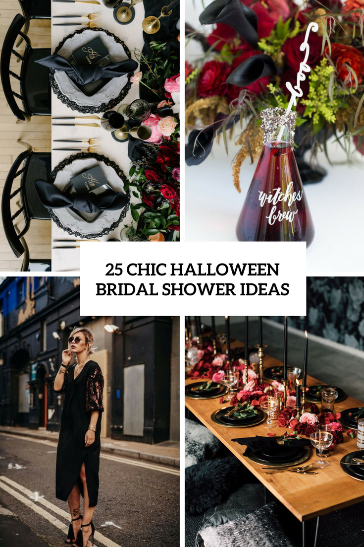 chic halloween bridal shower ideas cover