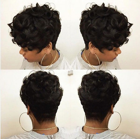 Short Curly Pixie Cut, Short Hair Pixie Black
