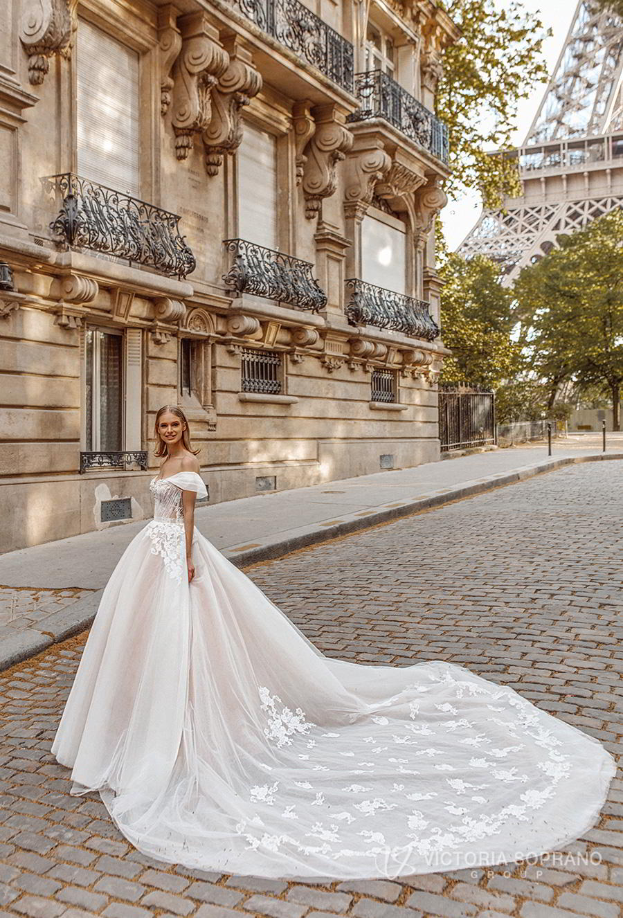 victoria soprano 2019 bridal off the shoulder sweetheart neckline heavily embellished bodice romantic princess a line ball gown weddding dress royal train (manolo) mv