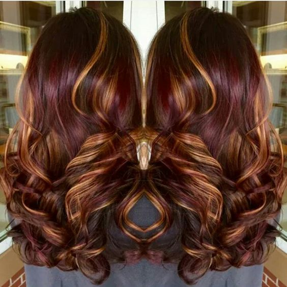 Burgundy with Highlights