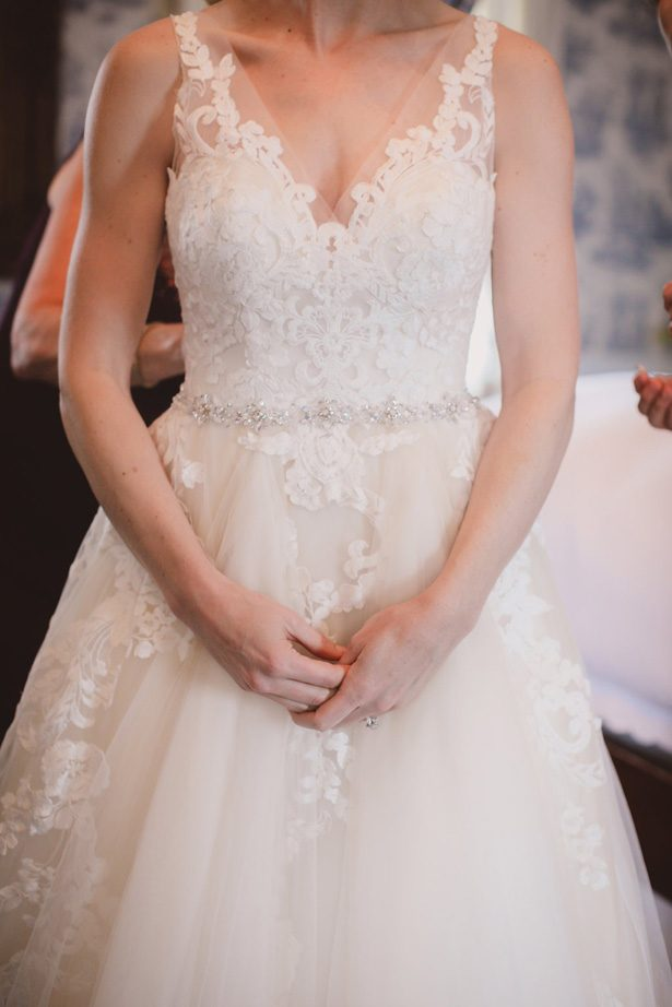Lace ball gown wedding dress- Dani Leigh Photography
