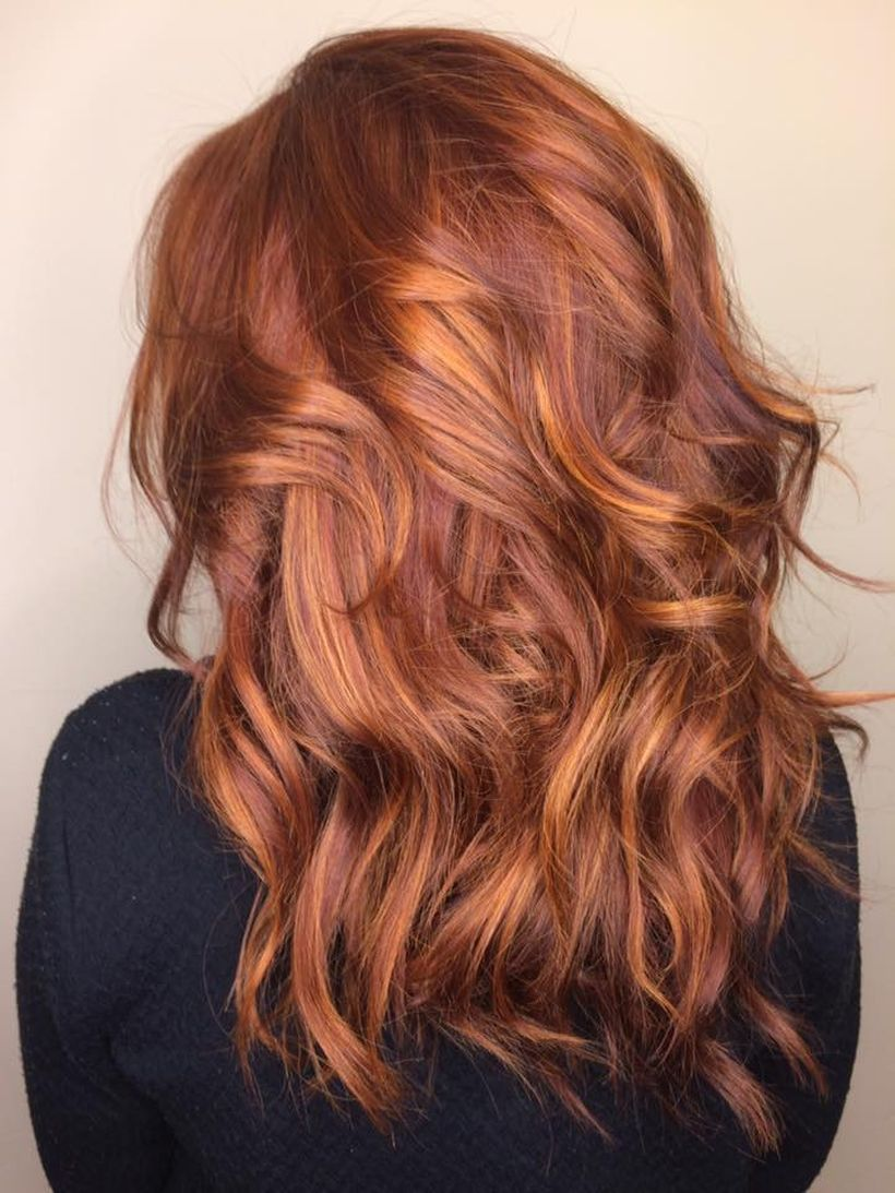 Red and Caramel Balayage