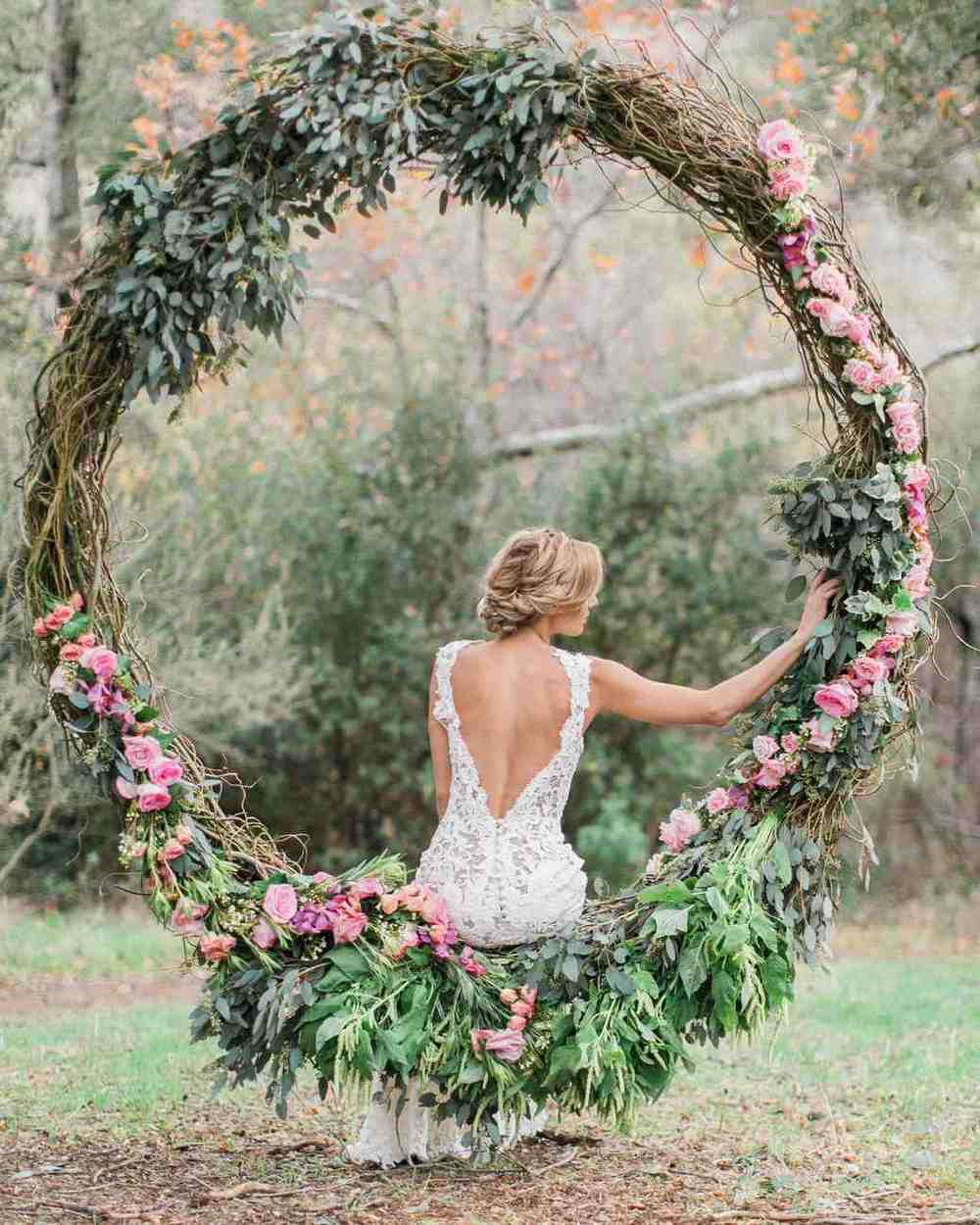 floral wedding hoops