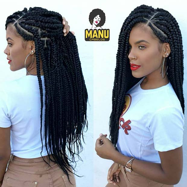 Trendy Big Box Braids